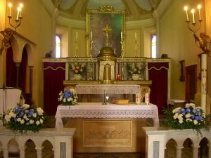 Chiesa di Viarolo - il presbiterio