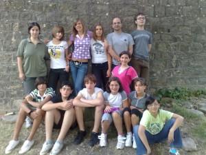 I ragazzi del catechismo in ritiro a Fugazzolo nel 2008