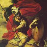 Brescianino, S. Giorgio martire - particolare del quadro dietro l'altare, chiesa di Viarolo
