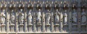 Statue dei martiri del XX secolo - Westminster Abbey, Londra.