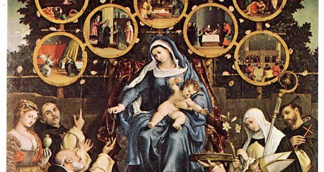 Madonna del Rosario - Lorenzo Lotto